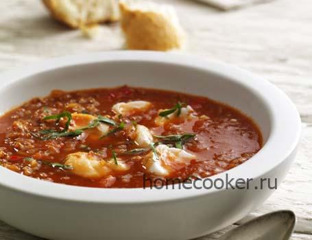 Горячий суп из сайды