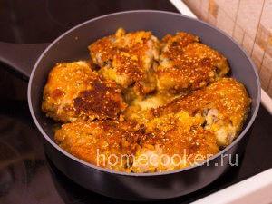Готовая курица с сыром