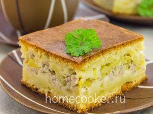 Готовый мясной пирог