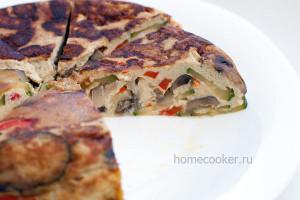 Gotovyj omlet s ovoshhami 300x200 Омлет с овощами в мультиварке