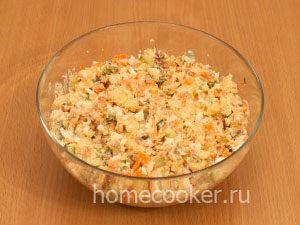 Готовый салат с печенью трески