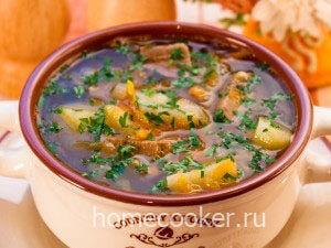 Готовый суп щи