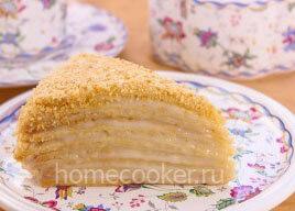 Готовый торт Наполеон