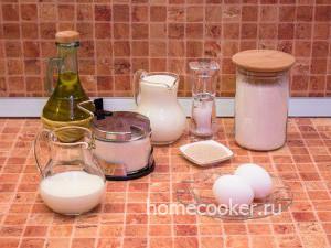 Ингредиенты для дрожжевые пирожков