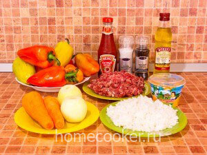 Ingredienty dlya farshirovannyh pertsev 300x225 Фаршированные перцы