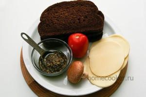 Ингредиенты для итальянских бутербродов