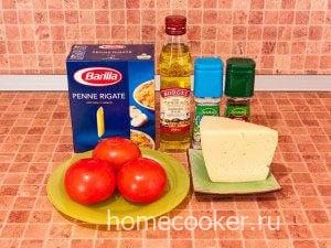Ингредиенты для макарон с сыром