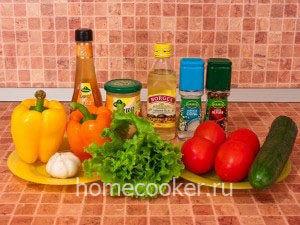 Ингредиенты для овощного салата