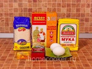 Ингредиенты для овсяного печенья