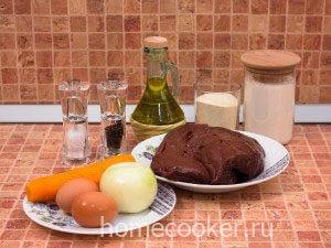 Ингредиенты для печеночных оладий