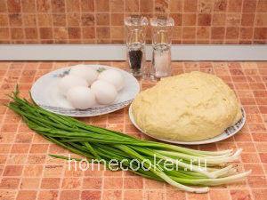 Ingredienty dlya pirozhkov 300x225 Пирожки с луком и яйцом