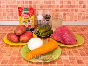 Ингредиенты для рассольника