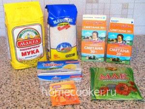 Ингредиенты для сметанного торта