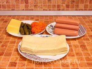 Ингредиенты для сосисок в тесте
