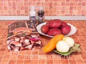 Ингредиенты для супа из грибов