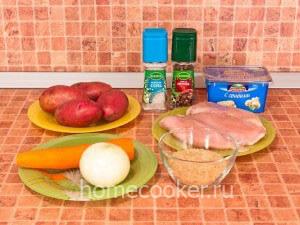 Ингредиенты для сырного супа
