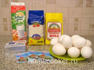 Ингредиенты для торта птичье молоко