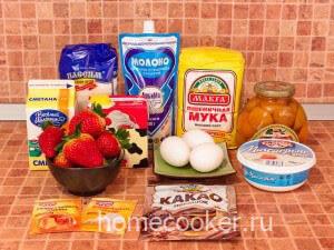 Ингредиенты для торта сердце