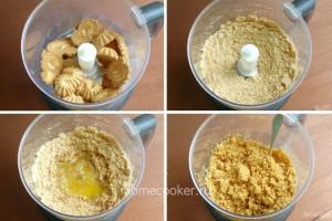 Измельчение печенья для чизкейка
