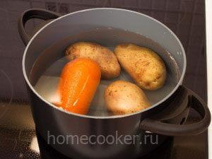 Картошка и морковкой