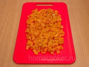 Мелко нарезанный абрикосы