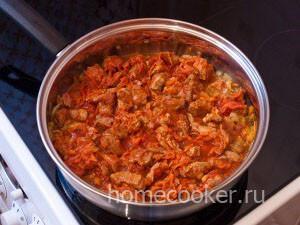 Мясо с томатной пастой