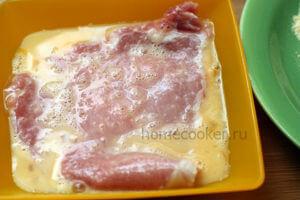Мясо с яйцом