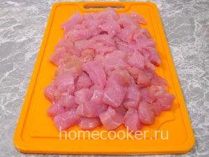Нарезанное куриное филе