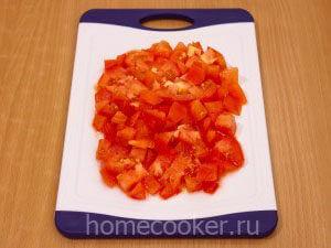 Нарезанный помидоры