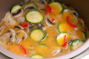 Omlet s ovoshami v multivarke 300x200 Омлет с овощами в мультиварке