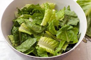 Порвать салат руками