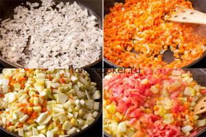 Приготовление овощей для икры