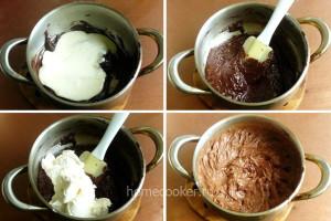 Приготовление шоколадных слоёв