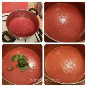Приготовление томатного супа