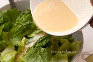 Соус для цезаря с салатом