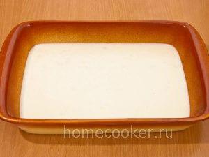 Соус в форме для выпекания