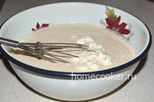 Топленое молоко со сметаной