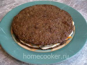 Vtoroj sloj 300x225 Торт из печени