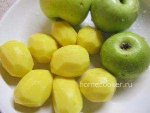 YAbloki kartofel 300x225 Утка с яблоками