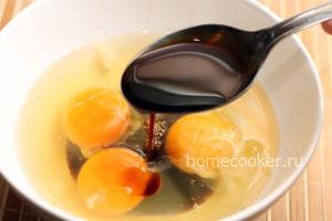 Яйца, соевый соус