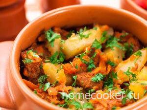 ZHarkoe iz myasa v gorshochke 300x225 Мясо в горшочках с картошкой
