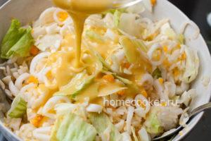 Zapravka dlya salata iz kalmarov 300x200 Салат из кальмаров