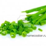 порезать зеленый лук